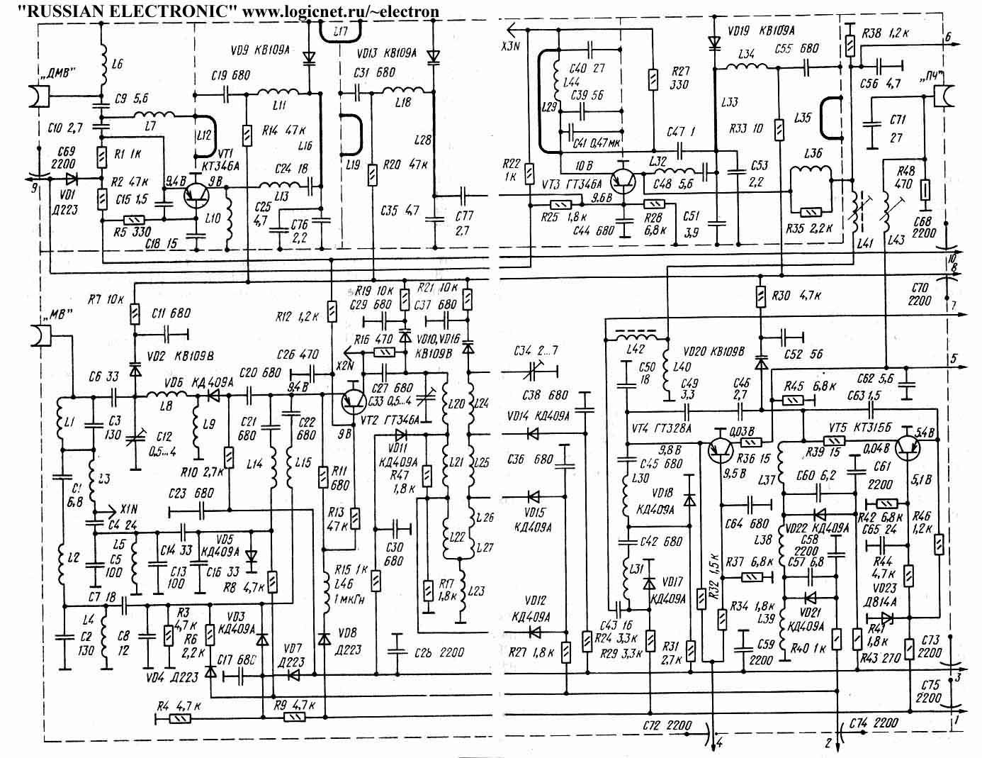 Схемы некоторых узлов телевизоров :: QRZ.RU.